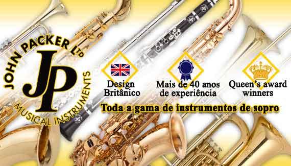 John Packer - a gama completa de instrumentos de sopro