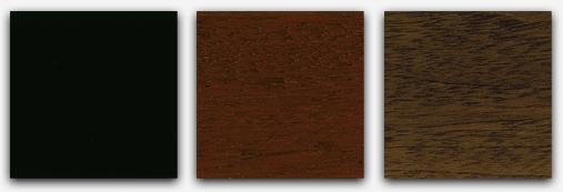 Sample of the piano finish in black, mahogany or walnut