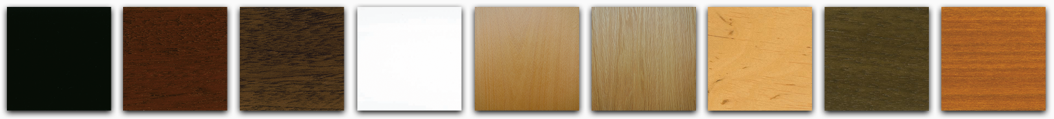 Sample of the finishes available for the Petrof piano